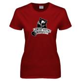 Ladies Cardinal T Shirt-LR Bear