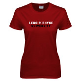 Ladies Cardinal T Shirt-Lenoir Rhyne University