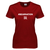 Ladies Cardinal T Shirt-Bear Nation