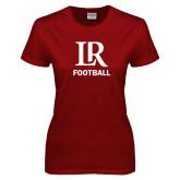 Ladies Cardinal T Shirt-Football