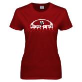 Ladies Cardinal T Shirt-Football Top