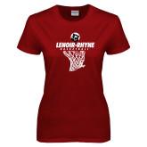 Ladies Cardinal T Shirt-Basketball Hanging Net