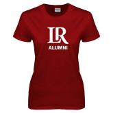 Ladies Cardinal T Shirt-Alumni