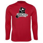 Performance Cardinal Longsleeve Shirt-LR Bear