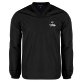 V Neck Black Raglan Windshirt-LR Bear