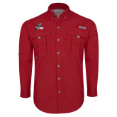 Columbia Bahama II Red Long Sleeve Shirt-LR Bear