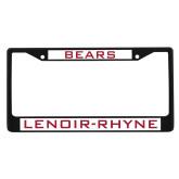 Metal License Plate Frame in Black-Bears