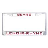 Metal License Plate Frame in Chrome-Bears
