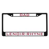 Dad Metal License Plate Frame in Black-Dad