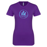 Next Level Ladies SoftStyle Junior Fitted Purple Tee-Primary Mark