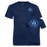 Navy 50/50 T Shirt w/Pocket-Primary Mark