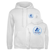 Russell DriPower White Fleece Hoodie-Primary Mark