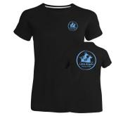 Ladies Russell Black Essential T Shirt-Primary Mark