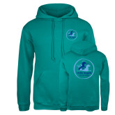 Russell DriPower Teal Fleece Hoodie-Primary Mark