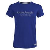 Ladies Russell Royal Essential T Shirt-Little Angels Rhinestones