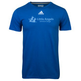 Adidas Climalite Royal Ultimate Performance Tee-Wordmark