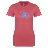 Next Level Ladies SoftStyle Junior Fitted Pink Tee-Primary Mark