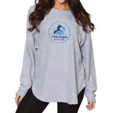 Ladies Grey Sherpa Slouch Jersey-Primary Mark