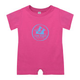 Bubble Gum Pink Infant Romper-Primary Mark