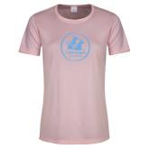 Ladies Performance Light Pink Tee-Primary Mark