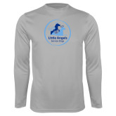 Performance Platinum Longsleeve Shirt-Primary Mark