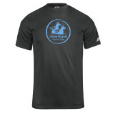 Russell Core Performance Charcoal Tee-Primary Mark