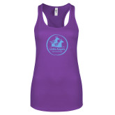 Next Level Ladies Purple Berry Ideal Racerback Tank-Primary Mark