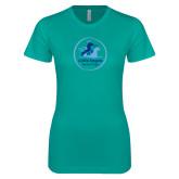 Next Level Ladies SoftStyle Junior Fitted Tahiti Blue Tee-Primary Mark
