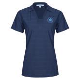 Ladies Indigo Blue Horizontal Textured Polo-Primary Mark