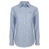 Ladies Light Blue Oxford Shirt-Primary Mark