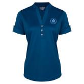 Ladies Ogio Indigo Blue Fashion Henley-Primary Mark