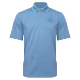 Light Blue Mini Stripe Polo-Primary Mark