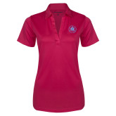Ladies Pink Raspberry Silk Touch Performance Polo-Primary Mark