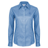 Ladies Red House Light Blue Long Sleeve Shirt-Primary Mark