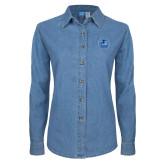 Ladies Denim Long Sleeve Shirt-Primary Mark