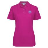 Ladies Easycare Tropical Pink Pique Polo-Primary Mark