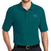 Teal Easycare Pique Polo-Primary Mark