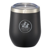 Corzo Vacuum Insulated Black Cup 12oz-Primary Mark  Engraved