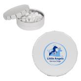 White Round Peppermint Clicker Tin-Primary Mark