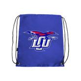 Royal Drawstring Backpack-Interlocking LCU w/ Chaparral
