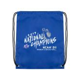 Royal Drawstring Backpack-2019 NCAA DII National Champions