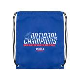 Royal Drawstring Backpack-2019 Womens Basketball NCAA DII National Champions