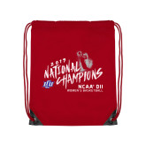 Red Drawstring Backpack-2019 NCAA DII National Champions