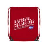 Red Drawstring Backpack-2019 Womens Basketball National Champions