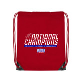 Red Drawstring Backpack-2019 Womens Basketball NCAA DII National Champions