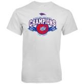 White T Shirt-Basketball Conference Champs Ribbon