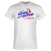 White T Shirt-2019 NCAA DII National Champions