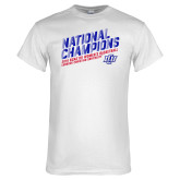 White T Shirt-2019 Womens Basketball National Champions
