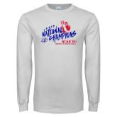 White Long Sleeve T Shirt-2019 NCAA DII National Champions