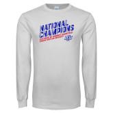 White Long Sleeve T Shirt-2019 Womens Basketball National Champions